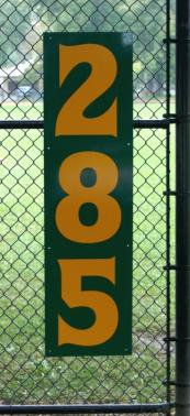 12x45 Vertical Outfield Distance Sign