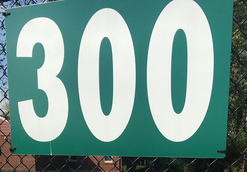 36x22 Horizontal Outfield Distance signs