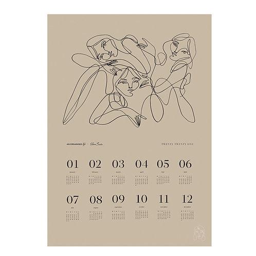An Organised Life x Elissa Barber Beige Calendar