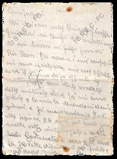 Lettera della staffetta partigiana Katja Nobili