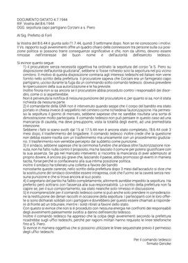 Sepoltura del capo partigiano Antonio Corzani