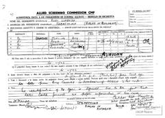Modulo di richiesta per assistenza data a ex prigionieri di guerra alleati