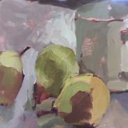 Three Pears and a Mug