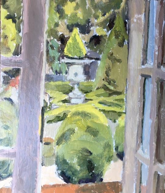 Through the studio door