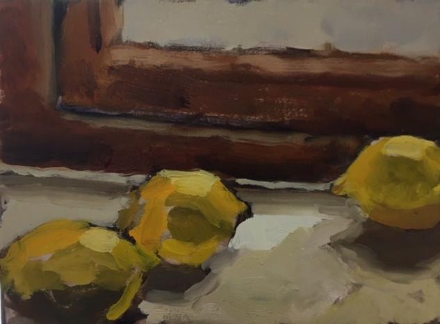 Three Lemons on a Sill