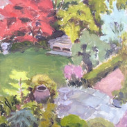Spring Garden from upstairs window
