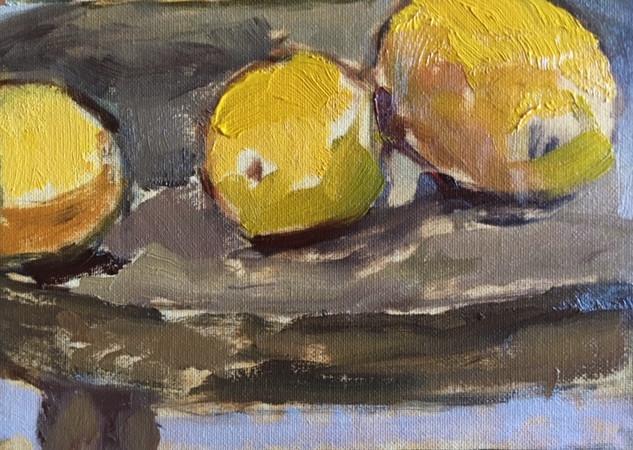 Three Lemons on a Stool