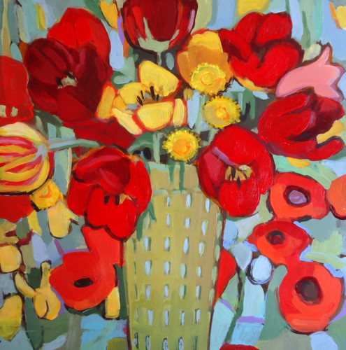TulipsOnPoppies16x16.JPG