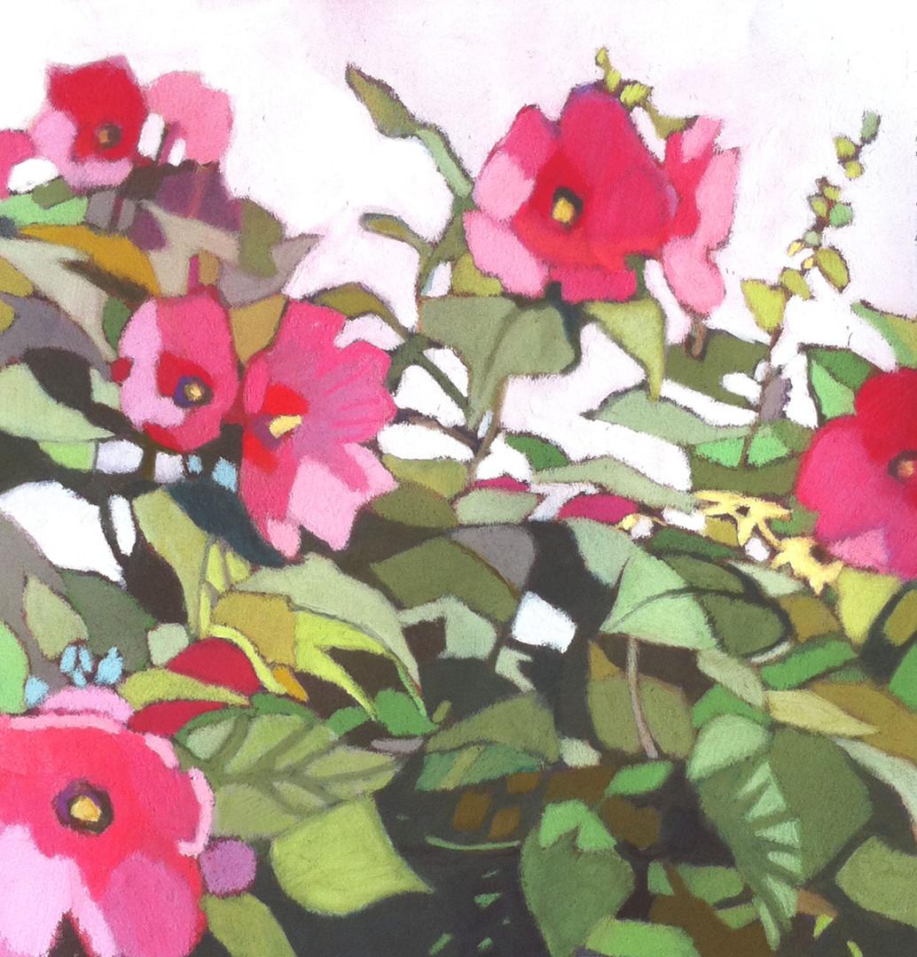 AgainstTheWall(Hibiscus)18x18.JPG