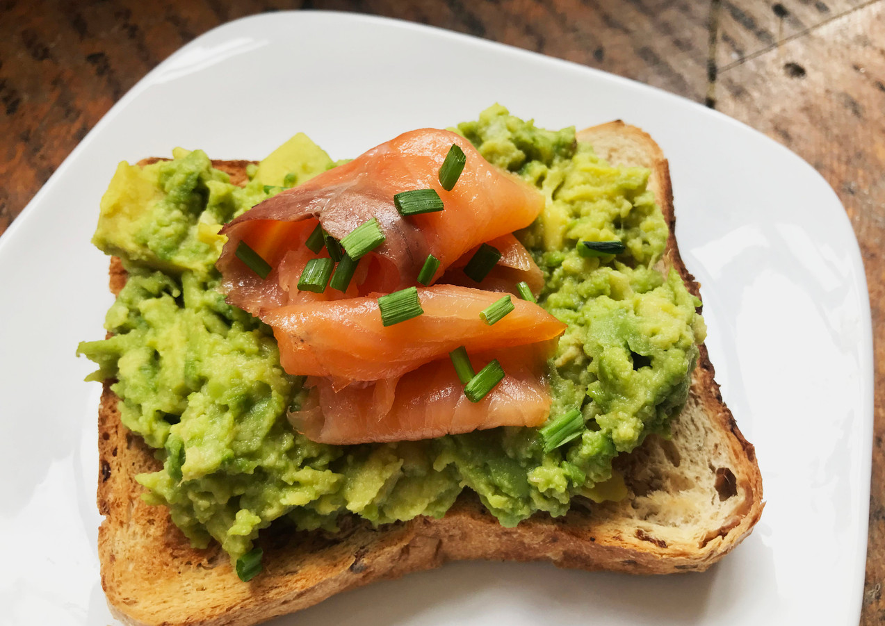 Salmon and Acacado on Toast