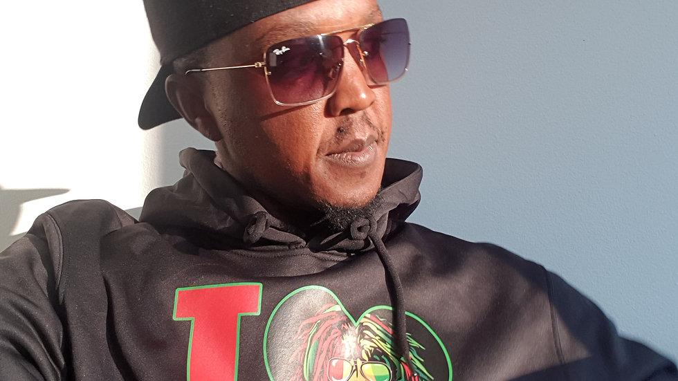 Reggae lion in shades hoodie