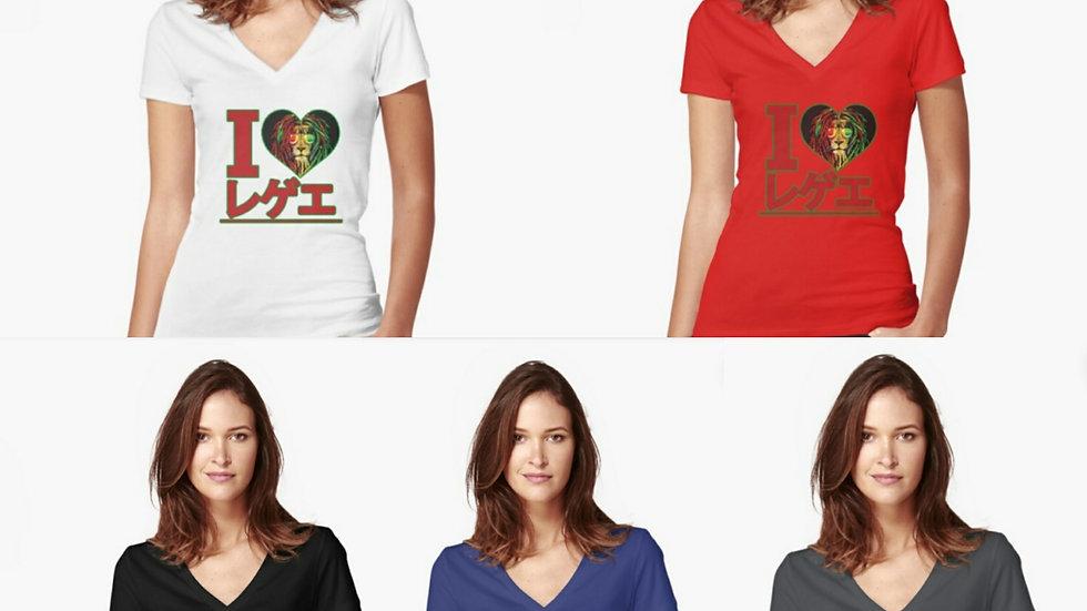 Reggae Lion in shades V-Neck