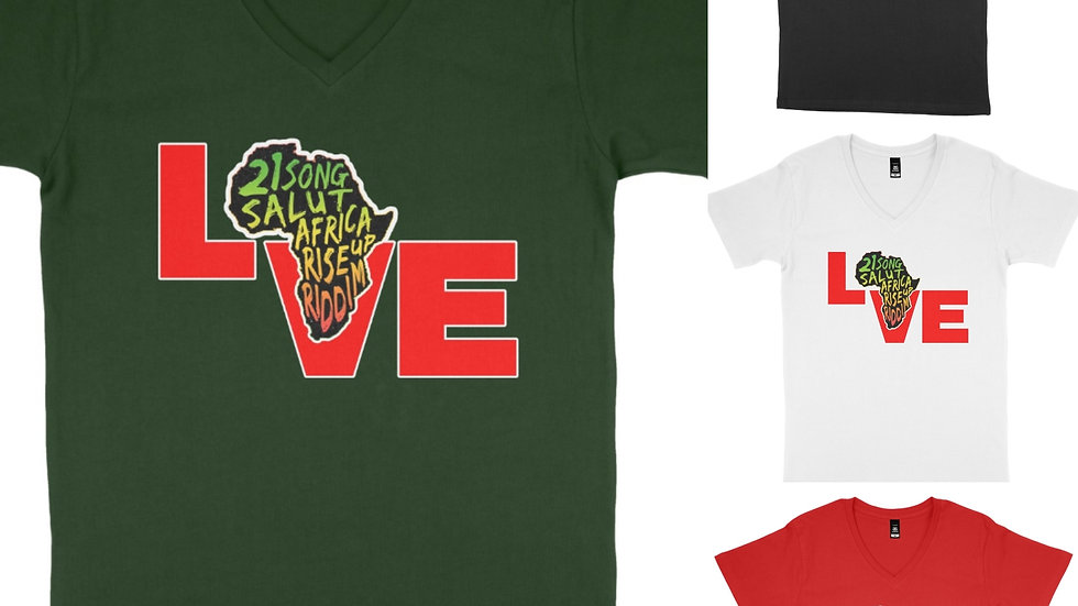 Reggae tshirt 21 Salute Africa Rise Up
