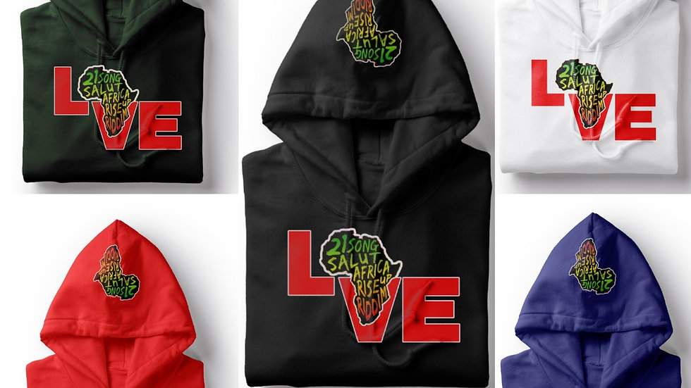 Music 21 Salute Africa Rise Up Hoodie