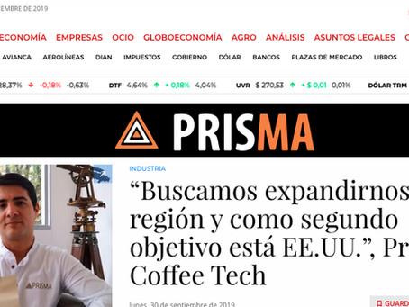 """ARTICULO PERIÓDICO LA REPÚBLICA. """"PRISMA COFFEE TECH"""""""