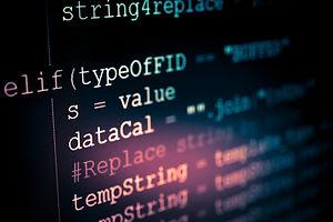 Software developer programming code. Abs