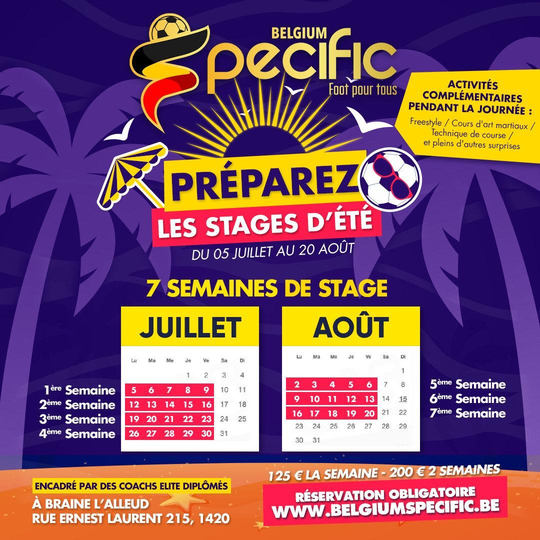 STAGES D'ÉTÉ / Du 5 au 9 juillet