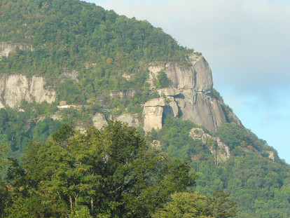 View of Chimney Rock From Boat House