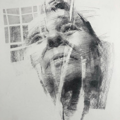18x20in, Charcoal on Paper, March2020