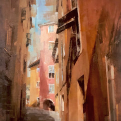 The Colorful Alley in Nice