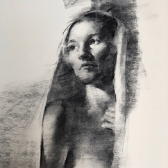 18x20in, Charcoal on Paper, Aug 2018