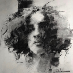 18x20in, Charcoal on Paper, May 2018