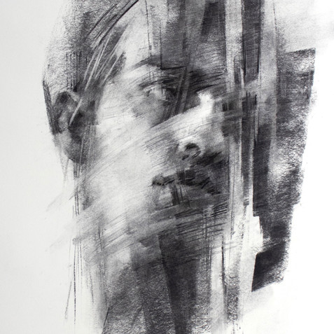 18x20in, Charcoal on Paper, June 2019