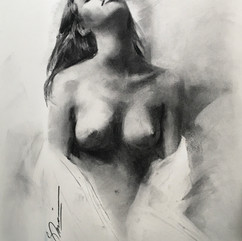18x20in, Charcoal on Paper, May 2017