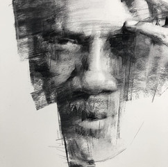 18x20in, Charcoal on Paper, June 2018