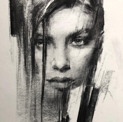 18x20in, Charcoal on Paper, Sept.2018