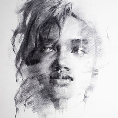 18x20in, Charcoal on Paper, Aug.2019