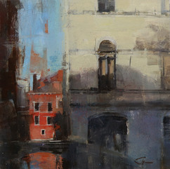 The bridge overlooks in Venice