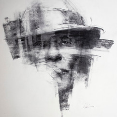 18x20in, Charcoal on Paper, March 2019
