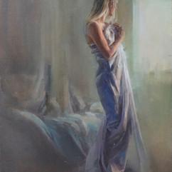 Morning in white silk