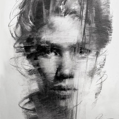 18x20in, Charcoal on Paper, March2019