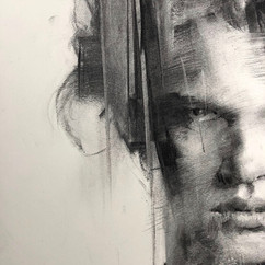 18x20in, Charcoal on Paper, Spet.2018,*Sold