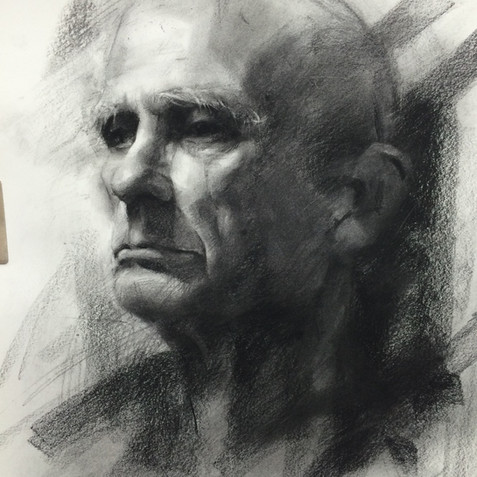 18x20in, Charcoal on Paper, June 2017