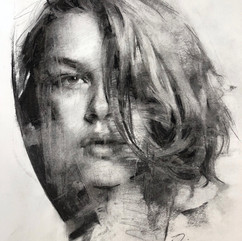 18x20in, Charcoal on Paper, Aug.2018