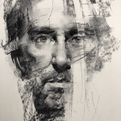 18x20in, Charcoal on Paper, May.2020