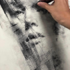 18x20in, Charcoal on Paper, June 2019,*Sold