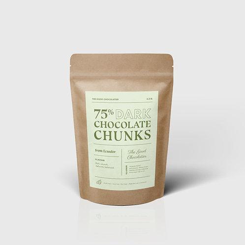 75% Dark Chocolate Chunks (1/2 lb)
