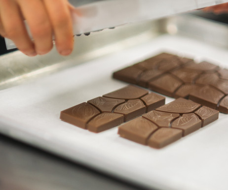 Handcrafted milk chocolate