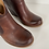 Thumbnail: Korks Brown Leather Gemini Ankle Bootie7.5M