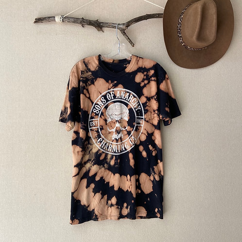 Sons of Anarchy Motorcycle Club Reverse Tie-Dye T-Shirt Sz L