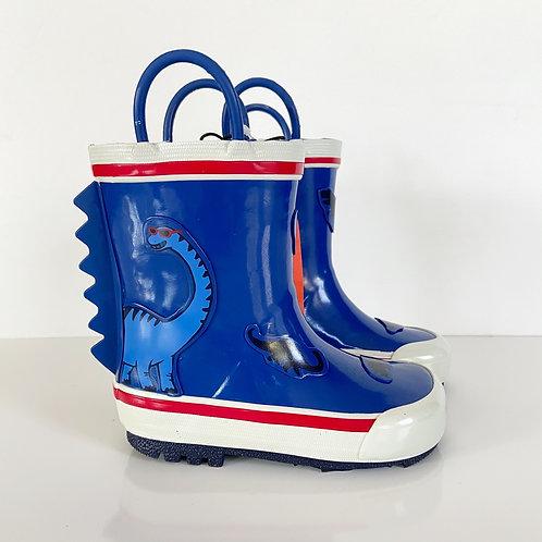 Joe Fresh Blue Dino Toddler Rain Boots Sz 7T
