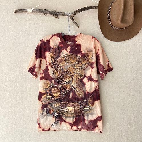 Boa Constrictor San Antonio Zoo Reverse Tie-Dye T-Shirt Sz S