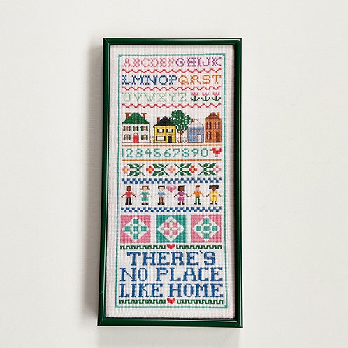 """""""There's No Place Like Home"""" Vintage Crochet Wall Art"""