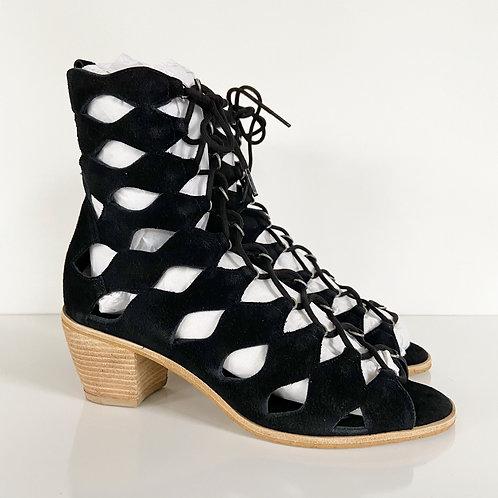 Matisse Black Suede Jester Sandals Sz 6.5