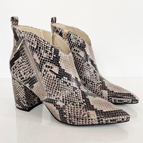 Marc Fisher Retta Snakeskin Chunky Heel Booties