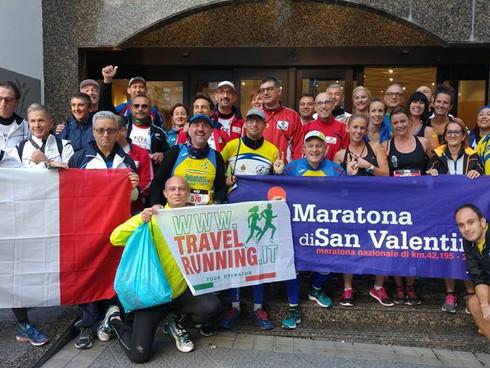 Luci giallo blu alla Bilbao night marathon!